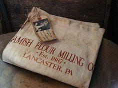 Primitive Pantry Amish Flour Milling Co. Sack by prairieantiques, $8.95
