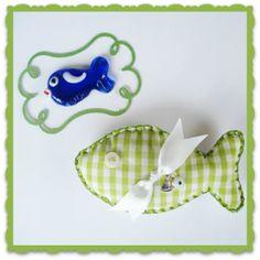 Image of Καρό υφασμάτινο ψαράκι • Baby gift