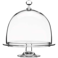 Luigi Bormioli Crescendo Footed Cake Plate with Dome (175 SVC) ❤ liked on Polyvore featuring home, kitchen & dining, serveware, luigi bormioli, footed cake plate, glass dome, glass cake plate and glass serveware
