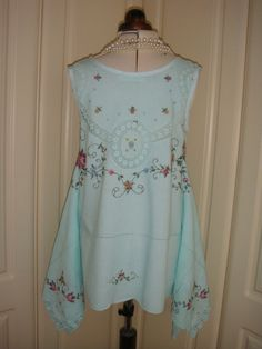 Gorgeous Upcycled Vintage Embroidered Cotton by PrettyUnusuall