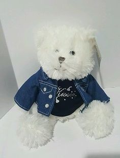 Hershey's Kisses Teddy Bear Plush Toy w/ Removable T-Shirt & Denim Jacket