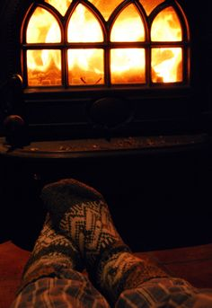 Nothing like warm tootsies on a chilly day. Too bad we don't have very many chilly days in Florida to get snuggled up by the fire.