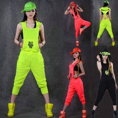 Cheap one piece pants, Buy Quality jumpsuit one piece directly from China women rompers Suppliers: Hip Hop Dance Costume performance wear women romper European playsuit loose overalls harem jazz jumpsuit one piece Pants Hip Hop Costumes, Dance Costumes, Hipster Outfits, Moda Hip Hop, Style Hip Hop, Hip Hop Dance Outfits, Legging Outfits, One Piece, Creation Couture