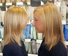 start with a gorgeous natural blonde, add some multi-tonal highlights and BOOM!... you get a beauty with natural-looking sun-lightened hair for an added WOW factor!