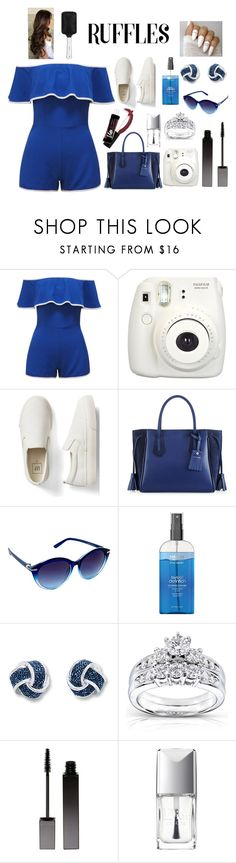 """""""RUFFLES"""" by anabelisstyle ❤ liked on Polyvore featuring Fujifilm, Gap, Longchamp, Nanette Lepore, Kobelli, Serge Lutens and Christian Dior"""