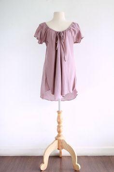 Women Romantic Pink Flowy Cotton Peasant Blouse by idea2wear, $35.00