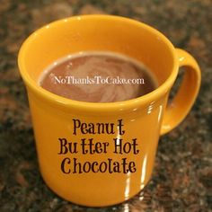 Yummy,Yummy Peanut Butter Hot Chocolate... and for just 83 calories a cup!