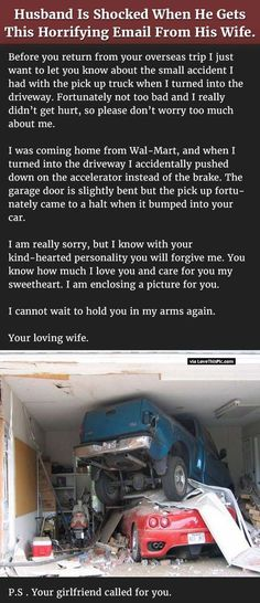 Husband Is Shocked When He Gets This Horrifying Email From His Wife... funny jokes story lol funny quote funny quotes funny sayings joke hilarious humor stories marriage humor funny jokes best jokes ever best jokes