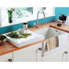 Astracast Butler Ceramic Drainer For Butler or Farmhouse Style Sinks - White  This fantastic traditional style sink is absolutely gorgeous and perfect for farmhouse style kitchens. At a very affordable price you can get your dream kitchen for cheaper than you think!  available now at http://www.tapwarehouse.com/product/astracast-crxwhdrainer