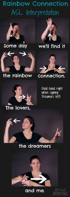 Love this song! Sign Language For Deaf, Sign Language Phrases, Sign Language Alphabet, British Sign Language, Asl Words, Learn To Sign, Asl Signs, Rainbow Connection, Deaf Culture