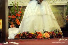 dress & bouquets