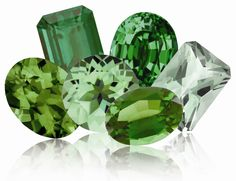 Emerald, Bloodstone, Chrysoprase, Tsavorite Garnet, Peridot, Evergreen Diffused Topaz, Green Mystic Topaz, Chatham Created Emerald and Green Tourmaline are just a few of Nature's green gemstones.