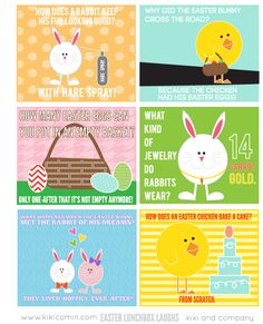 Easter Lunchtime Laughs {free printable}