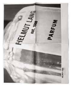 ❤️Helmut Lang by Marc Atlan Editorial Layout, Editorial Design, Helmut Newton, Ppr, Fashion Advertising, Print Layout, Vintage Labels, Vintage Ads, Helmut Lang