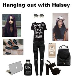 """""""Hanging out with Halsey"""" by wifi-fangirling ❤ liked on Polyvore featuring R13, Frame Denim, Valentine Goods, rag & bone, Casetify and Cutler and Gross"""