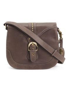 Leather Canolo Crossbody
