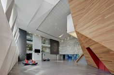 Image 16 of 30 from gallery of Roberto Cantoral Cultural Center / Broissin Architects. © Paul Rivera A As Architecture, Cabinet D Architecture, Contemporary Architecture, Communal Kitchen, Interior Design Boards, Inspiration Design, Lobby Design, Private Club, Learning Spaces