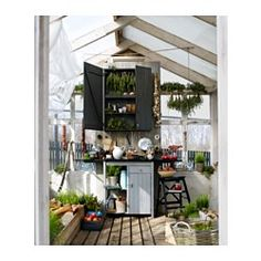 IKEA offers everything from living room furniture to mattresses and bedroom furniture so that you can design your life at home. Check out our furniture and home furnishings! Outdoor Spaces, Outdoor Living, Outdoor Decor, Outdoor Sheds, Bekvam Ikea, Swedish Kitchen, Greenhouse Shed, Ikea Family, Ikea Cabinets