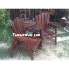 Fotolii din lemn Outdoor Chairs, Outdoor Furniture, Outdoor Decor, Design, Home Decor, Decoration Home, Room Decor, Garden Chairs