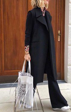 Komplette Outfits, Fall Outfits, Fashion Outfits, Womens Fashion, Mode Style, Style Me, Work Fashion, Fashion Looks, Pantalon Large