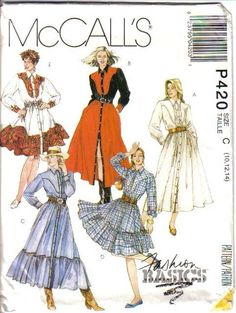 Misses Country Western Wear Cowgirl McCalls Sewing Pattern Your Choice | eBay    This is my favorite dress I've ever made for myself!