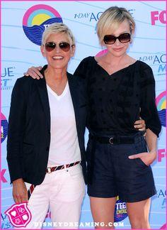 Ellen DeGeneres And Portia de Rossi At The 2012 Teen Choice Awards