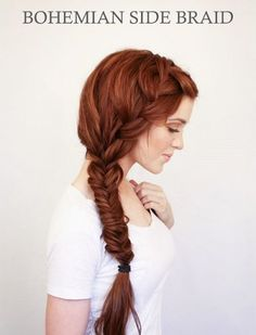 rich copper hair hue bohemian braid...someday i.ll be able to do this