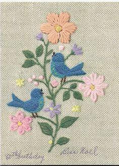 Blue Birds & Posies