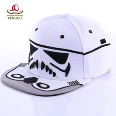 Star Wars Trooper Caps and Hats http://slangzteez.com/products/fashion-brand-star-wars-snapback-caps-cool-strapback-letter-baseball-cap-bboy-hip-hop-hats-for-men-women-fitted-hats?utm_campaign=crowdfire&utm_content=crowdfire&utm_medium=social&utm_source=pinterest