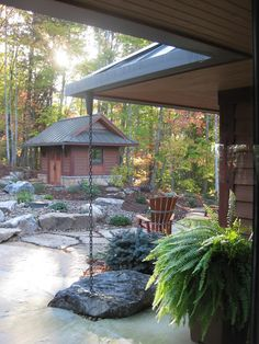 Landscape -NC Mountain Lake House - Sarah Susanka