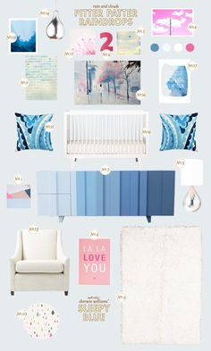 pitter-patter-raindrops baby nursery inspiration board