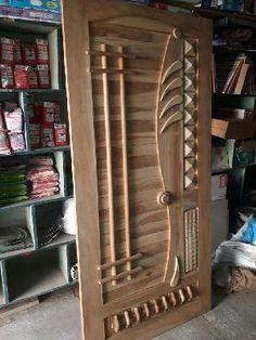 Manufacturer & Exporters of Teak Wood Modern Designer Doors in Jamnagar India. Krishna Overseas offering fine quality Teak Wood Modern Designer Doors at Affordable Price. Single Main Door Designs, House Main Door Design, Wooden Front Door Design, Double Door Design, Pooja Room Door Design, Door Design Interior, Wood Front Doors, The Doors, Modern Front Door