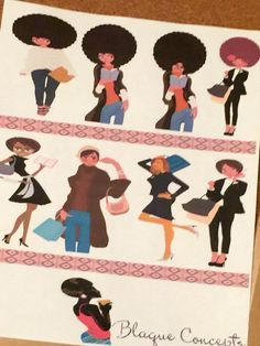 African American Planner Friends  Sticker Sheets by jblaque