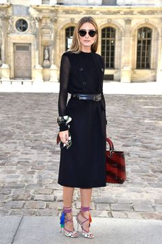Olivia Palermo. See all the chicest attendees front row at Paris Fashion Week here.