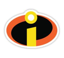 The Incredibles Logo Sticker