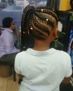 Little Black girls' 40 Braided Hairstyles – New Natural Hairstyles Lil Girl Hairstyles, Black Girl Braided Hairstyles, Black Kids Hairstyles, Box Braids Hairstyles, Toddler Hairstyles, Teenage Hairstyles, Hairstyle Ideas, Hair Ideas, Children Braided Hairstyles