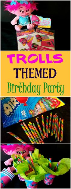 These are the perfect party supplies for your next Trolls Themed Birthday Party.