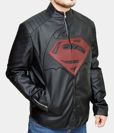 Batman Vs Superman Red logo Jacket    https://www.mr-styles.com/product-category/fashion-collection/fashion-jackets-collection/superhero-leather-jackets/