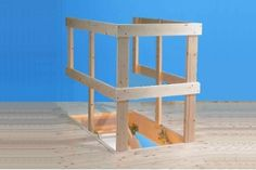 """Grand Wooden Loft Ladder - Frame 1280mm x 700mm (4'2"""" x 2'3½"""")Floor to ceiling heights up to 2.8m (9'2"""")"""