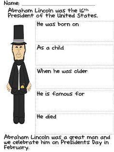 Classroom Freebies Too: Happy Birthday Mr. Lincoln