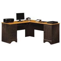 from officedepot com sauder harbor view collection corner computer desk 30 1 4 h x