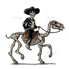 The Rider In The Mexican Man National Costumes