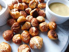 These easy homemade pretzel bites are made with store bought muffin dough so they are not only fast and easy, they are super cheap to make. No need to proof any yeast! Appetizer Recipes, Appetizers, Homemade Pretzels, Cant Stop Eating, Well Seasoned, Fast Easy Meals, Football Food, Food Menu, Pretzel Bites
