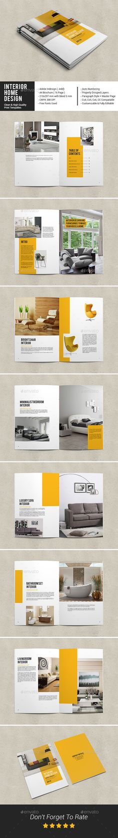 Interior Home Design Catalog Template InDesign INDD. Download here: http://graphicriver.net/item/interior-home-design-catalog/16077754?ref=ksioks