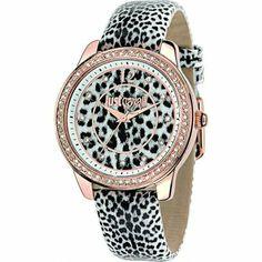 Just Cavalli R7251586505 Ladies Black Leopard Watch | WatchCorridor