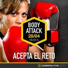 Si quieres ganar fuerza y resistencia nuestras clases de #BodyAttack son lo tuyo. Te animamos a que aceptes el reto. Te esperamos el próximo Martes a las 18:05 h