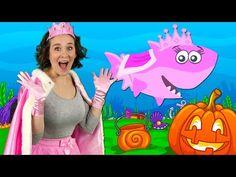 """""Q Halloween Baby Shark Kids Halloween Songs, Shark Halloween, Halloween Bebes, Feliz Halloween, Baby Shark Kids Song, Baby Shark Dance, Baby Shark Doo Doo, Kids Nursery Rhymes, Baby Nursery Themes"