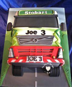 Eddie Stobart cake Birthday Cakes For Men, Cakes For Boys, 3rd Birthday, Birthday Ideas, Cake Models, Truck Cakes, Gbbo, Novelty Cakes, How To Make Cake