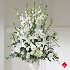 church - wedding flowers!