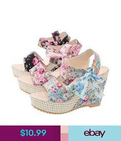 Cheap sandal girls, Buy Quality sandal odor directly from China sandals platform Suppliers: 2017 Summer Peep Toe Women Wedges Sandals Lace Up Floral Ankle Strap Women Platform Sandals 35 Cheap Sandals, Bow Sandals, Shoes Heels Wedges, Women Sandals, Wedge Sandals, Women's Shoes, Shoes Women, Ladies Shoes, Heeled Sandals